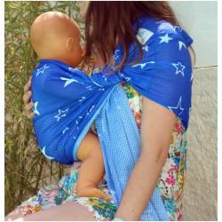 POrte bébé Sling SUKKIRI bleu étoiles
