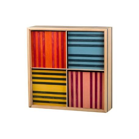 Kapla OCTOCOLOR - 100 planchettes de 8 couleurs