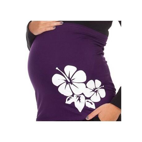 "Bandeau de grossesse violet "" hibiscus"" Mamanband"