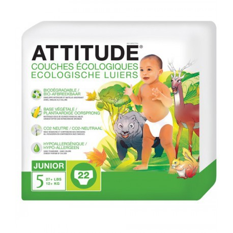 Couches jetables Attitude Junior +12kg