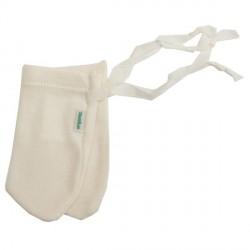 Moufles anti-griffures Coton Bio Blanc (iobio)