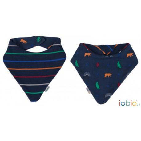 Bavoir bandana réversible coton bio IOBIO