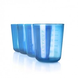 Lot de 4 mini tasses bleues Babycup