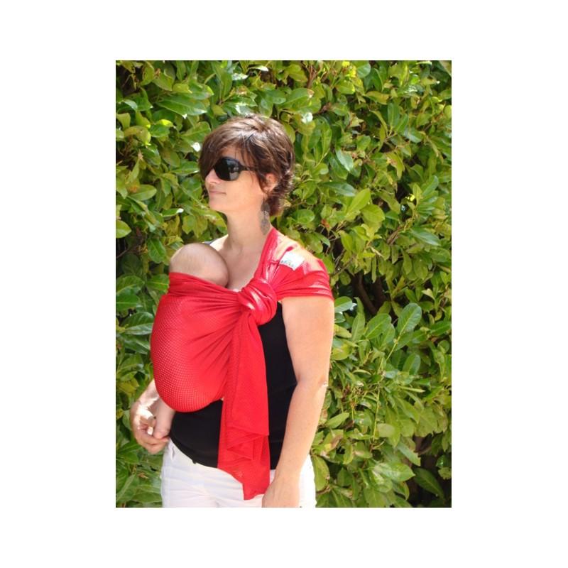 Portebébé Sling SUKKIRI Rouge Parents Bio - Porte bébé sling