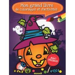 Mon grand livre de coloriages & d'activités Halloween Avec Stickers
