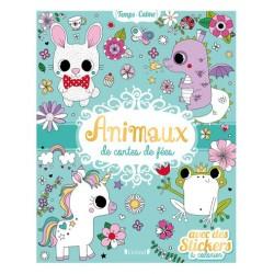 Animaux de contes avec stickers à colorier