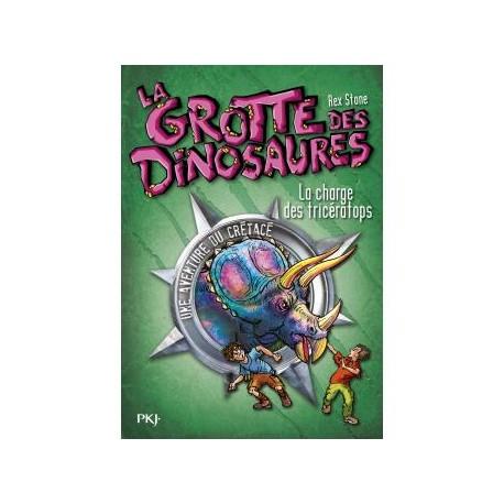 La grotte des dinosaures La charge des triceratops