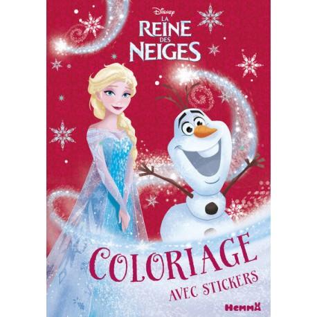La reine des neiges Coloriage avec Stickers