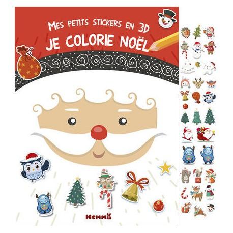 Mes petits Stickers 3D - Je colorie Noël Hemma