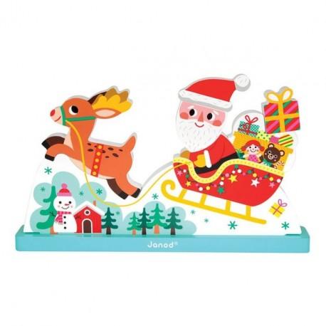 Puzzle vertical magnétique - Le traineau du père Noël