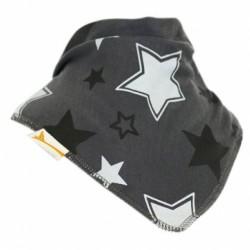 Bavoir bandana étoiles grises Funky Giraffe