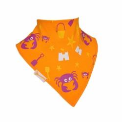 Bavoir bandana Funky Giraffe Crabou 100% coton