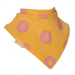 Bavoir bandana Funky Giraffe Humm des donuts Jaune