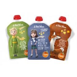 Pack de 3 Gourdes réutilisables Le Petit Prince pour compote SQUIZ