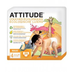 Couches jetables Attitude Maxi 9-14kg