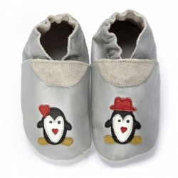 Chaussons en cuir souple Winter wonderland DIDOODAM