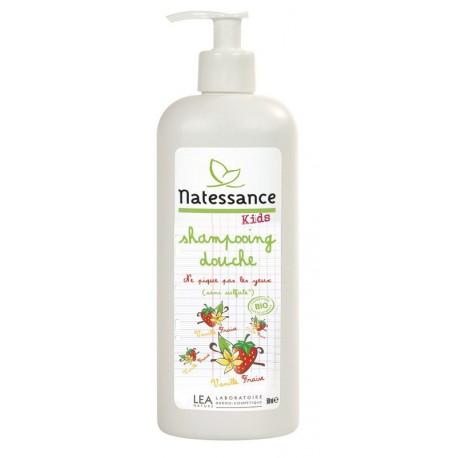Shampooing douche Kids Vanille fraise Natessance