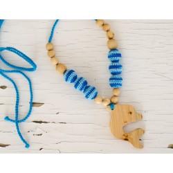 Collier d'allaitement & portage Dauphin bleu KangarooCare