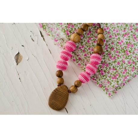 Collier d'allaitement & portage Pink drop KangarooCare